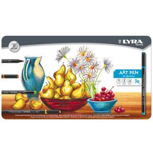 Lyra Hi-Quality Art Pen Metallask 30-pack