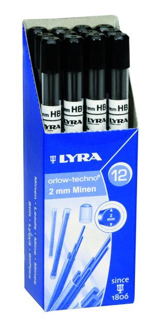 Blyertsstift Orlow-Techno 2 mm 2B 6stift/tub