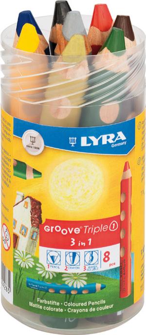 Lyra Groove Triple 1 8-pack i tub