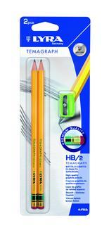 Lyra Temagraph HB + vässare 2-pack BL
