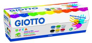 Giotto Dita Fingerfärg 6 x 100 ml