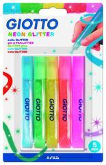 Giotto Glitterlim Neon 10,5 ml 5 st BL
