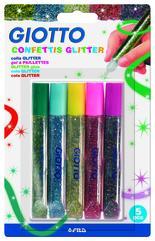 Giotto Glitterlim Confetti 10,5 ml 5 st BL