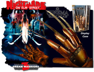 The Dream Warriors glove inc display.