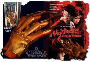 The Original Nightmare glove inc display.