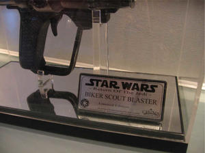 Scout trooper blaster inc display and plaque
