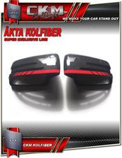 Spegelkåpor med röd AMG look stripe