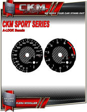 Mätartavlor sport km/h 260km/h  Bensin