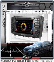 "C4. Comand enhet i ""MB LOOK"" DVD GPS Bluetooth Touch Screen mm.."