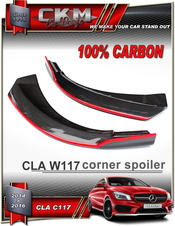 1.Carbon front spoilers RED LINE EDITION