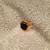Klackring i 18Karat guld med svart onyx sten.