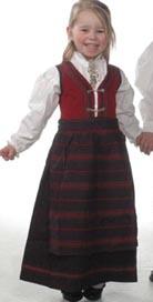 """BUNAD """"Martine"""" - RØD"""