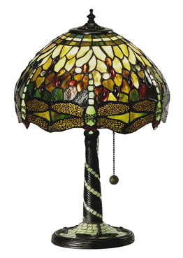 Bordslampa Dragonfly Green Ø 31cm