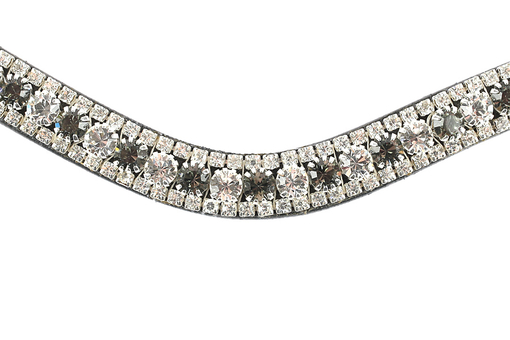 Browband Crystal Silver Night