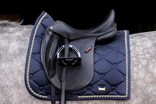 Saddle Pad Monogram Imperial Blue Dressage