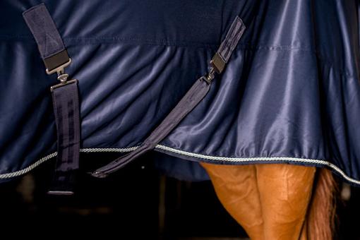 Blanket Shiny Fleece No Lining Navy