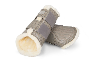 Dressage Boots, grey, Foreleg