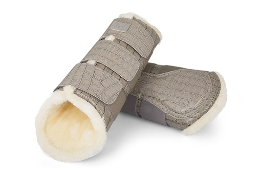 Dressage Boots, grey, hind leg