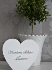"""Stående hjärta """"Världens bästa mamma"""""""