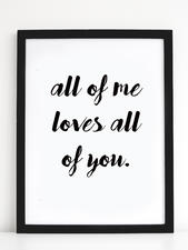 "Print ""All of me"" 30*40 cm"