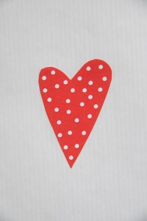 Hjärta röd prick