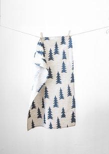 GRAN TEA TOWEL, NATURE/MIDNIGHT BLUE