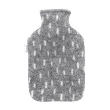 HOT WATER BOTTLE DOTTED, GREY
