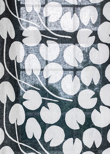 WATER LILIES FABRIC, NIGHT BLUE