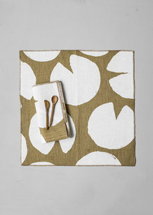 WATER LILIES NAPKINS 2-PACK, MUSTARD