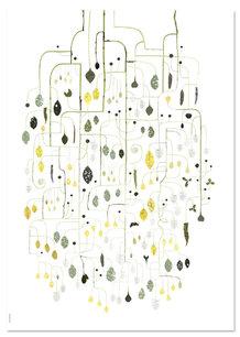 BIRDCHERRY TREE POSTER