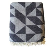 WOOL BLANKET, DARK GREY