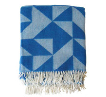 WOOL BLANKET, BLUE