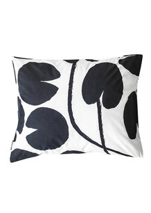 WATER LILIES PILLOW CASE, NIGHT BLUE