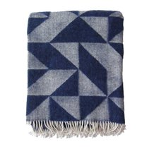 WOOL BLANKET, DARK BLUE