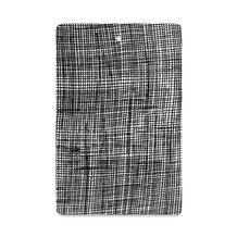 CHECKED SERVE BOARD, BLACK