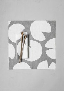 WATER LILIES NAPKINS 2-PACK, GREY