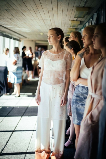 Grey pearl paint neopren skirt