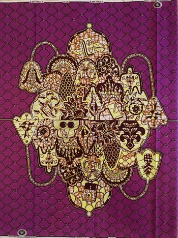 AFRIKA Medaljong lila/gul