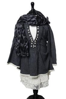 Samantha scarf leo grå barn