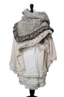 Hedvig sjal brun för barn