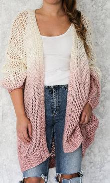 Savannah cardigan fade pink
