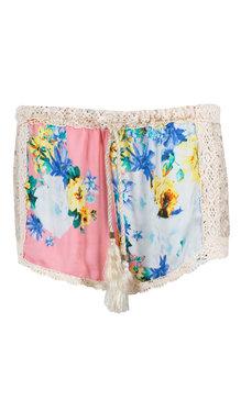 Shorts flower rosa