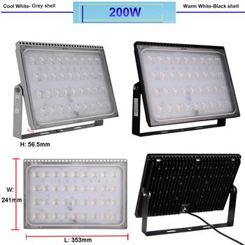 230 Volt kraftfull utomhus superslim LED strålkastare frostad frontglas valbar 100W upp till 500W. Valbar kallvit & varmvit klass A++
