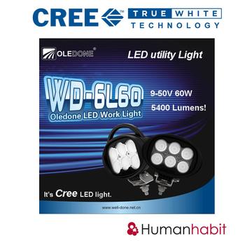 60W CREE LED arbetsbelysning OLEDONE 9-50V