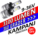 LED konvertering 3100 lumen 360 grader 9-36V