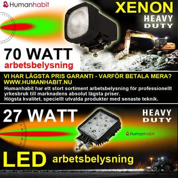 70W Xenon Heavy Duty arbetsbelysning