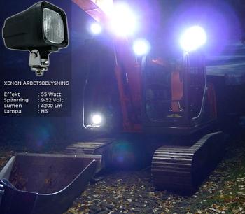 55W Xenon 9-32V arbetsbelysning