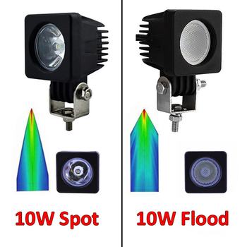 6 pack 10W CREE miniatyr CREE LED valbar 10° spot eller 60° flood 9-32V