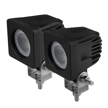 6 pack 10W CREE mini LED valbar 10° spot eller 60°  flood, ihopkopplingsbar 9-32V