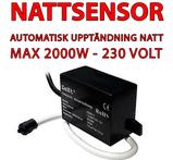Nattsensor till 230V LED strålkastare max 2000W